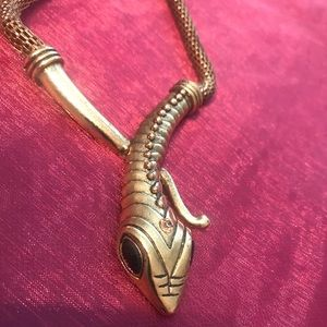 Snake serpant necklace. Gold and silver available
